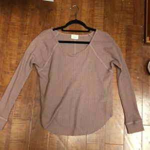 PST by Project Social T Waffle Thermal Shirt